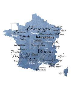 Best of France Wine print