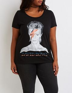 c051d865a409c9 Plus Size Rock & Republic® David Bowie Graphic Tee | Products ...
