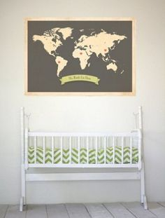 """Map your child's """"roots"""" in this personalized map for a nursery"""