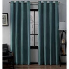 Exclusive Home Curtains Loha 54 in. W x 63 in. L Linen Blend Grommet Top Curtain Panel in Honey Gold - The Home Depot Outdoor Curtains, Home Curtains, Grommet Curtains, Window Curtains, Window Panels, Exclusive Homes, Drapery Panels, Colorful Curtains, Kochi