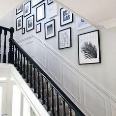 Dado Rail Hallway, Dado Rail Living Room, Dado Rail Bedroom, Stair Paneling, Panelling, Entrance Hall Decor, Hallway Pictures, Victorian Hallway, Hallway Inspiration