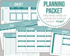 Planning Printables, Daily Planner, Weekly Planner, INSTANT Download, 60 pages