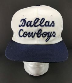 New to Jhollas on Etsy  Vintage 90 s Dallas COWBOYS Cursive SCRIPT SnapBack  Hat Cap NFL (25.00 USD) fc1bc1740