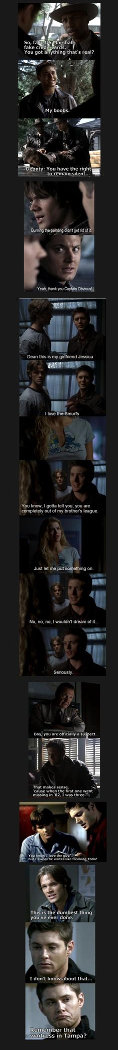 Dean Winchester Quotes. He is an eloquent man indeed.