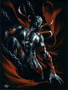 Spawn by Gabriele Dell'Otto Comic Art Marvel Art, Comic Art, Creepshow, Dark Fantasy, Superhero Comic, Spawn Marvel, Spawn Comics, Art, Spawn