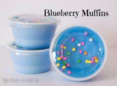 Blueberry Muffins Scented Wax Melt Tart - Soy Portion Cup Home Blue Confetti Sprinkles Fragrance 2 oz.