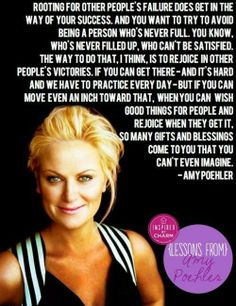 Wisdom from Amy Poehler. This is really intelligent advice