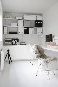 Home Office Decor. Home office and home study decor choices, such as tips for a minimal room, desk suggestions, themes, and cabinets. Carve out a work space at your home you won't ever mind getting work finished in. 53033934 5 Home Office Decorating Ideas