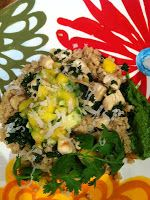 Coconut Chicken and Quinoa with Kale topped with Tropical Mango ...