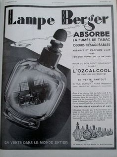 Superb Vintage Advertising for Lampe Berger Advertising Vintage Advertising for Lampe Berger