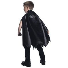 Deluxe Batman Cape For Kids - One-Size, Boy's, Black