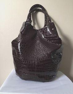 Leather tote bag ebay