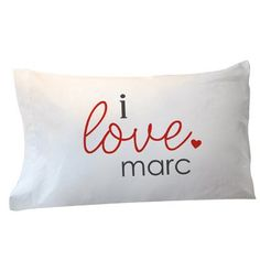 Personalized I Love You Pillowcase GiftsForYouNow