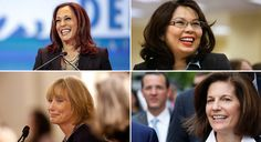 Elizabeth Warren stumped for these women running for the Senate. Good work! Kamala Harris, Tammy Duckworth, Maggie Hassan, Catherine Cortez Masto
