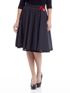 Patsy Dots Skirt black | napo-shop.de