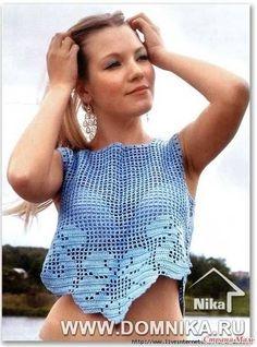 Delicadezas en crochet Gabriela: Top femenino y con diseños