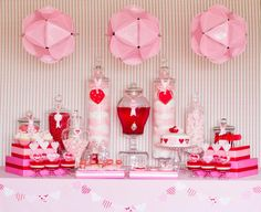Valentine's Dessert Table with Paper Plate Lanterns