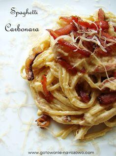 Spaghetti carbonara  www.gotowanie-na-rozowo.com
