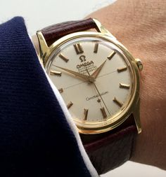 Omega Constellation Automatic Vintage 18 ct carat solid gold Crosshair dial