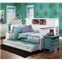 Morris Home Furnishings Berkshire Bookcase Day Bed with Louvre Panels - Trundle Not Included