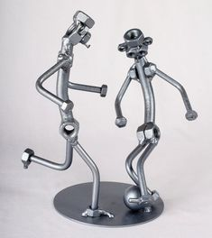 Soccer Players - MetalDiorama Metal Art Sculpture