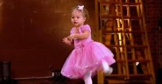 This adorable 2-year-old steals the show at her mother's dance audition!