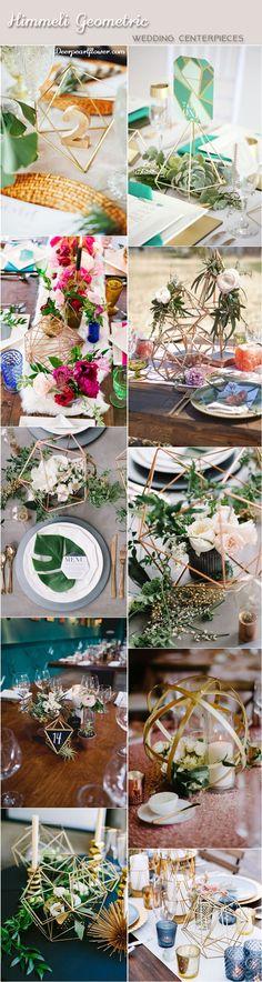 2018 Modern Wedding Trend: Himmeli Geometric Wedding Details Modern himmeli geometric wedding centerpiece ideas / www. Romantic Wedding Centerpieces, Wedding Ceremony Decorations, Wedding Bouquets, Wedding Flowers, Wedding Dresses, Elegant Modern Wedding, Eclectic Wedding, Wedding Trends, Wedding Ideas