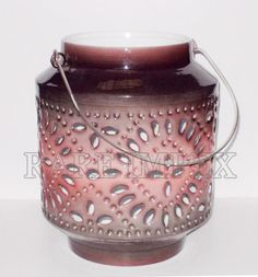 Ceramic Brown Candle Light