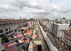 Studio Weave has designed a new roof terrace for London College of Fashion's gallery space.