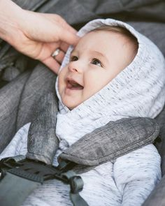 The perfect Hoodie for breezy summer strolls. Available in our organic cotton bamboo blended Melange (shown here) or Wild Flower in sizes 3-6m to 5T.  #vonbon #babystyle #babyessentials #babyboy #stokkebaby #boystyle