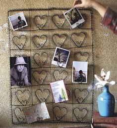#Rustic Wire #Heart Wall Hanging #Photo Holder