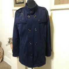 Mens / Teen Jacket Navy blue double breasted Jacket. Jackets & Coats Pea Coats