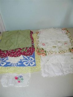 Lot of 10 Vintage Handkerchief handy Hankie 11277 Embroidery Lace Floral #Unbranded #MixedLot