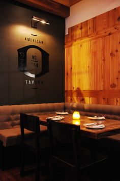 Outpost American Tavern - Modern but I like what they did to create a dark space with high ceilings