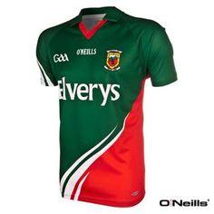 O Neills Mayo GAA Jersey Green Red County Mayo c19ee2a49