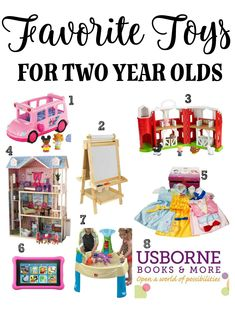 Favorite toys for two year olds: This list of eight items is commonly found in many homes and daycares with two year olds. Whether you're shopping for a girl or a boy, these toys should give you some ideas for what the two year old in your life would love. Click here to read more!