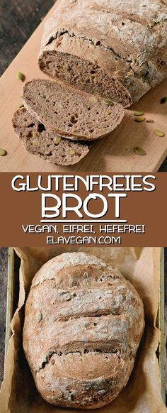 This is my favorite recipe for homemade gluten free vegan bread because . - This is my favorite recipe for homemade gluten free vegan bread that is egg free, yeast free, and n - Gluten Free Bread Recipe Without Yeast, Gluten Free Bagels, Gluten Free Baking, Gluten Free Recipes, Vegan Recipes, Salt Free Bread Recipe, Yeast Free Recipes, Bread Without Yeast, Irish Recipes
