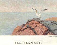 Northern Gannet - Theodor Severin Kittelsen Art Database, Animal Paintings, Fairy Tales, Bird, Artworks, Drawings, Illustration, Artist, Animals