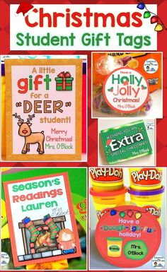 Easily create personalized, memorable Christmas gifts for your students with these cute and EDITABLE student gift tags. Simply print and attach to trinkets such as play dough, books, crayons, Jolly Ranchers, glow sticks, etc.  Includes 12 different Christmas designs so you can use them for multiple classes or from year to year.