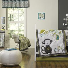 Project Nursery - Happy Chic Baby Safari Monkey Nursery Collection