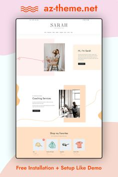 Sarah is a chic and feminine WordPress theme that is beautifully designed and packed with features. With its sophisticated design and endless customization options. Perfect choice for online businesses, creatives, bloggers, and influencers looking to level up their online brand. Dream of selling your physical or digital goods via your own webshop? With Sarah and WooCommerce, adding a shopfront to your site is a piece of cake!