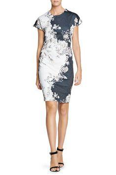 Mango Oriental Print Fitted Dress $69.99 http://shop.mango.com/US/p0/mango/clothing/oriental-print-fitted-dress/?id=13035633_75