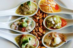 #Ceviche sampler on the South Beach Food Tour! Check out more #foodie fun from #Miami Culinary Tours: http://www.zerve.com/MiaCulinary