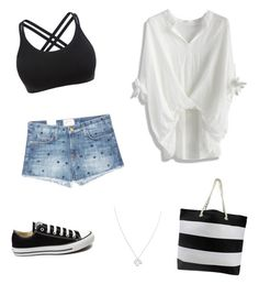 """""""Nude"""" by chimizmorales on Polyvore featuring moda, Chicwish, WithChic, Current/Elliott, Converse y Wolf & Moon"""