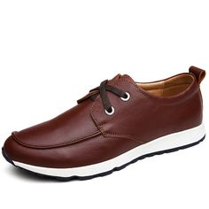 Herren Schuhe Designer Shoes Man Casual Sapatilhas Spring Fashion Genuine Leather Men Scarpe Size 37 to 43 Black Dark Brown