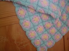 (4) Name: 'Crocheting : Square Motifs Baby Blanket