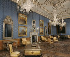 The Queen's Ballroom, French furniture, rare and exceptional English silver pieces of furniture, Venice views by Canaletto, English chandeliers made for George III.