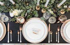 Switch up your red + green holiday tablescape with this modern black + metallic look | photo @cavinelizabeth event design @luxeeventssd floral design @blushbotanicals invitations @brightlydesigned . . . . . #holidaytables #holidayideas #holidayparty #rosegold #floraldesign #eucalyptus #ohwowyes #tablescapes #shootthepeople #weddingphotography #tablescapes #Christmasideas #darlingdaily #ruffledvendor