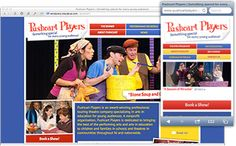 A theater troupe gets a playful website