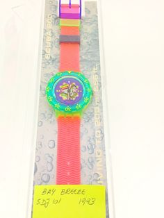 Swatch Black Bay Breeze SDJ101 Scuba divers watch 1993 new unused in original box with papers by KGMDiamonds on Etsy
